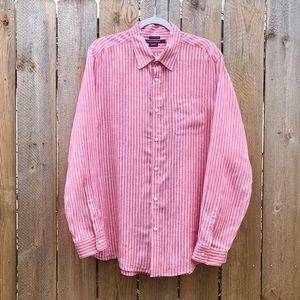 Island Company | Red White Striped Linen Shirt